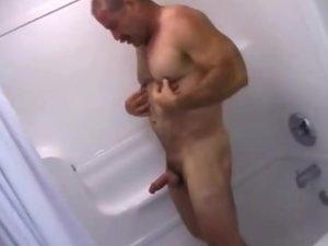 Masculine Bear Jerking Off