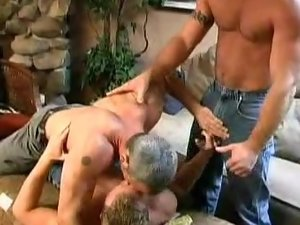 Gay Cubs Threesome Topping