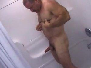 Daddy Bear Bathroom Stroking