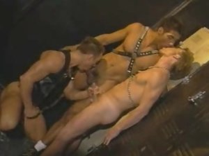 Hot Gay Threesome Bottoming