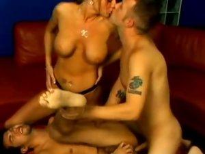 Hot Pornstar Kayla Bisexual Threesome