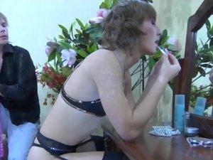 Paul and Silvester cockloving crossdresser on video
