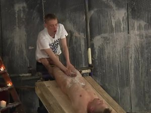 New Boy Used For A Foot Wank - Chris Jansen & Ashton Bradley