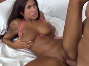 Step sister Stacy Jay is horny for step brothers dbig cock for Hardcore fuck