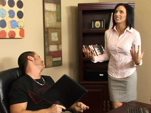 No boss fires a chick who makes him cum so hard