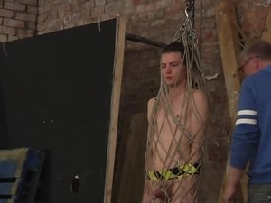 Sweet Twink Drained Of Cum In A Rope Cage - Jonny Pistol and Sebastian Kane