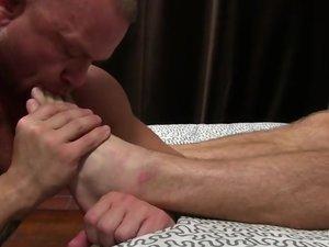 Daxton Worships Scott's Socks and Feet - Scott
