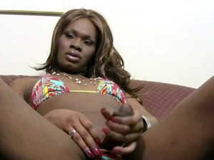 Black T-babe with small titties blowjobs big white cock