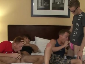 Blow job orgy with Holden takin the loads