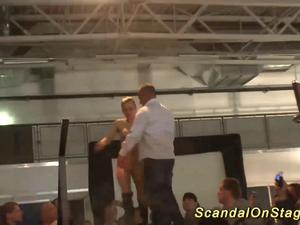 hot lapdance show on public stage