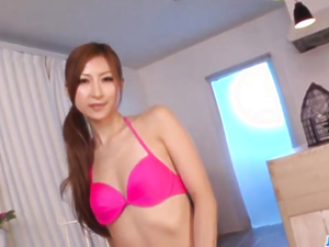 Reira Aisaki places big toys in her creamy loves holes