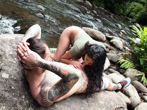 Natural Amateur Banged by the River