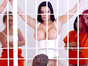 Prison babe having rough anal