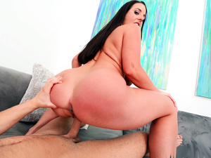 Angela White Titty-Fucks a Voyeur