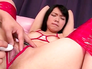 Sexy bondage porn show along brunette Hikaru Morikawa