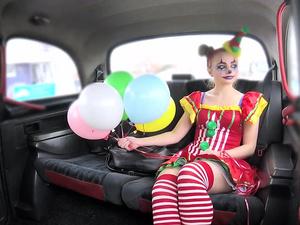 Driver Fucks Cute Valentine Clown