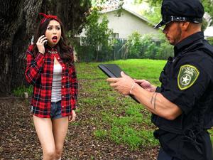 Betrayed Latina Gets Cop Cock