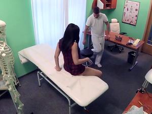 Fake Hub - Shy Brunette Has Explosive Orgasms