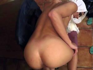 Sexy Arab babe banged by friend