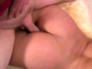 Teens share a hot juicy cock in sensual threesome fuck