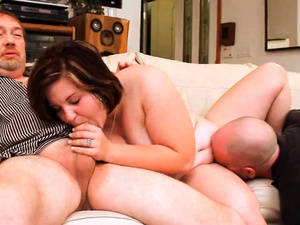 Chubby Slut Wife Threesome Fuck 2 Cocks