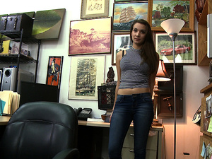 Pretty hot teen Naomi Alice bangs pawn owner for extra cash