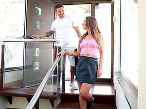 Step Sister Ambushes Barcelona Step Bro