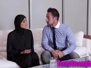 Teen arab sucks schlong