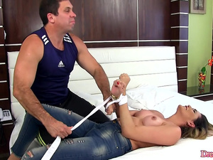 A Criminal Persuades Shemale Bella Atrix to Submit to His Lust