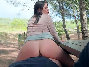 Brunette Babe's Public Fuck