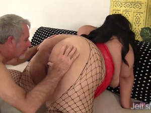 Large and Lovely Mia Riley Tit Fucks and Cunt Fucks an Older Guy