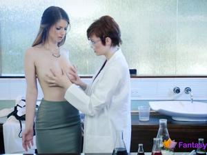 Hot Lesbian Sex in Doctor's Office