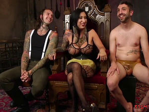 Busty Mistress Strapon Fucks a Bisex Guy