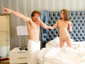 Horny StepSis Surprises Stepbro In Bed