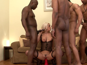 Big black dicks for horny blonde