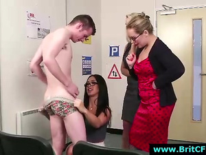British office babes strip horny CFNM amateur