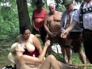 german outdoor orgy with bbw girls