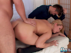 Impotent Husband Watches His Blonde Wife Nikky Dream Get Fucked by a Stud