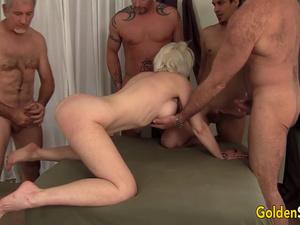 Amazing Grandma Dalny Marga Fucks Five Horny Bastards and Wears Them Out