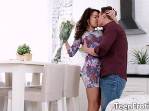 Brunette Babe Roxy Dee Is Fucked in Her Pussy and Ass by Her Boyfriend