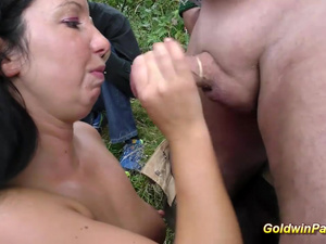 real german outdoor groupsex orgy