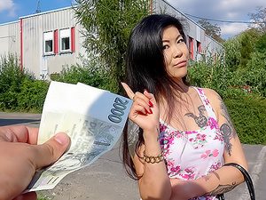 Hot Asian chick loves girthy cock
