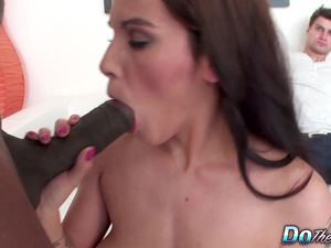 Hairy cunt MILF Michele Lee gets BBC sex