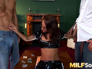 Sabrina Sweet taking anal in threesome