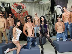 Porn Academy Anal Gangbang Training!