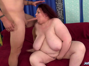 Massive Tits BBW Stazi Sucks a Long Cock and Takes It up the Ass