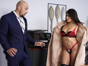 Men buying lingerie