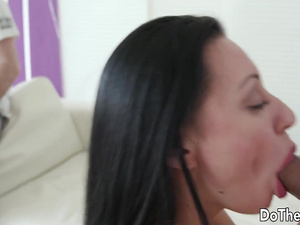 MILF Wife Eva Ann Screwed by a Stud Right in Front of Her Cuckold Husband