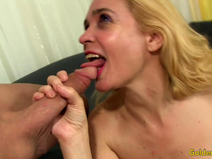 Mature Blonde Beauty Sable Renae Sucks and Fucks a Hard Cock