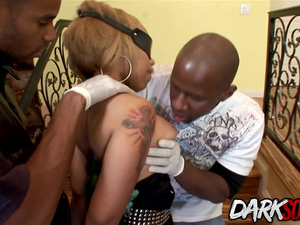 Big Booty Slaves Emma Heart and Melrose Foxxx Destroyed by a Gang of BBCs
